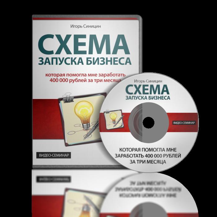 Обложка для диска «Схема запуска бизнеса» для Игоря Синицина