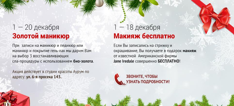 Зимние банеры акций «Аурума» для Елены Сапоговой